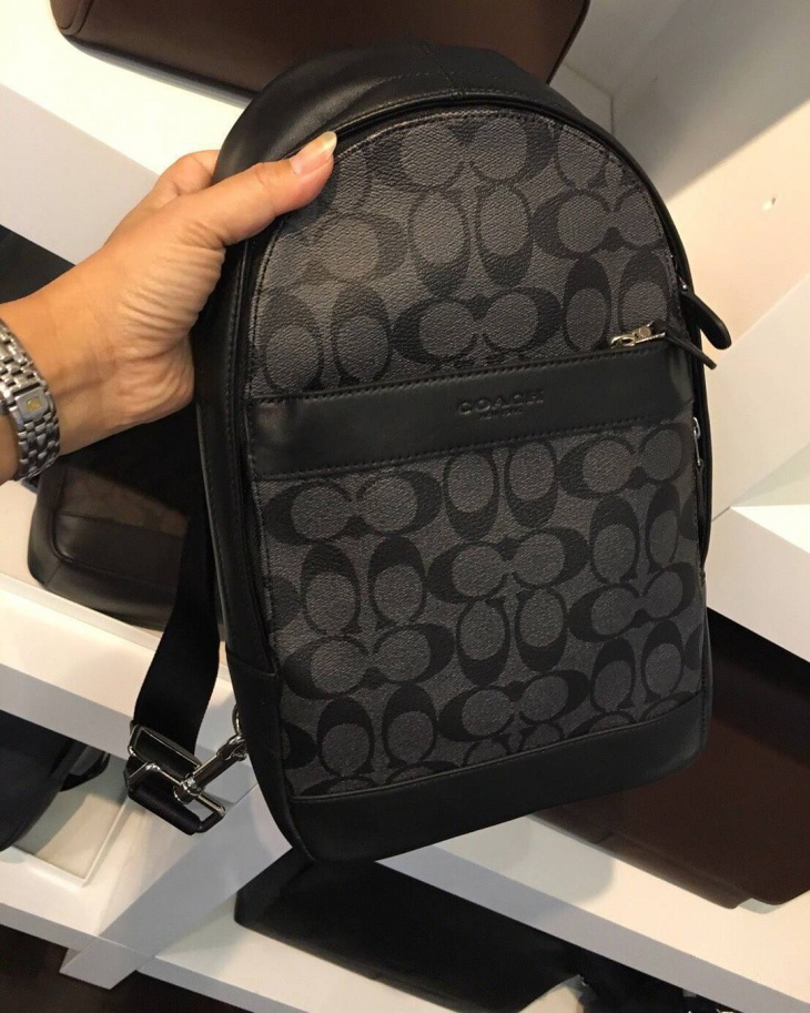 Designer Leather Sling Backpack