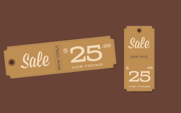 Vintage Sale Tag
