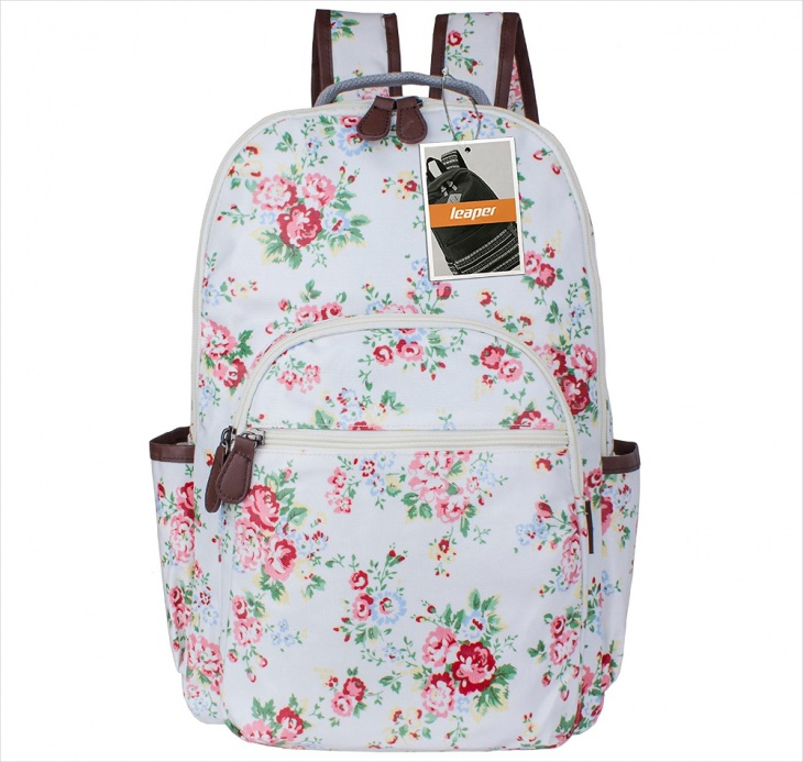 Vintage Floral Backpack Design