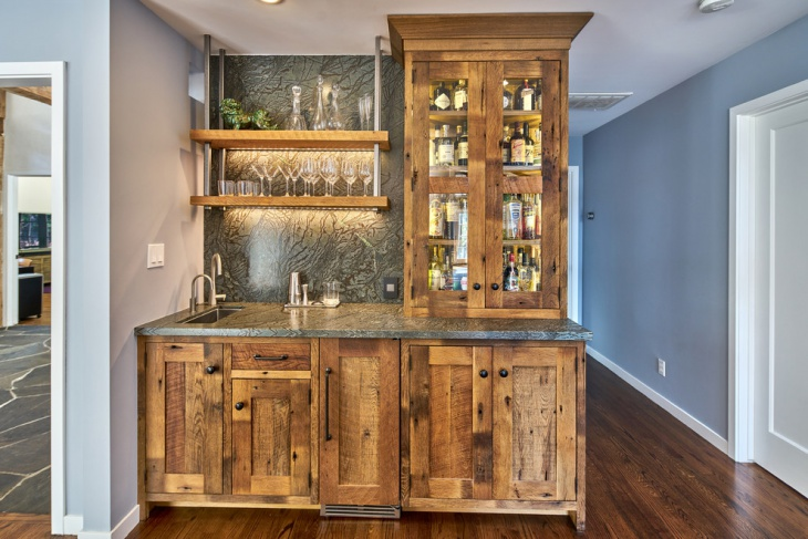 small cottage home bar design