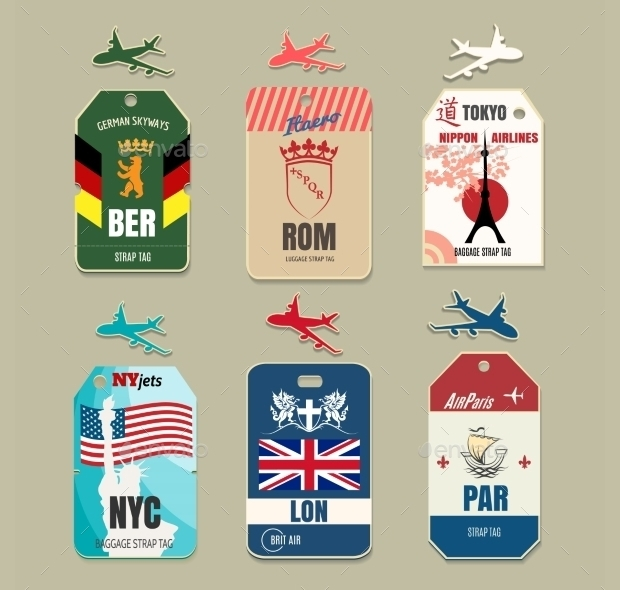 Vintage Luggage Tag Design