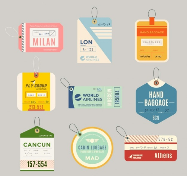 Flat Luggage Tag Design