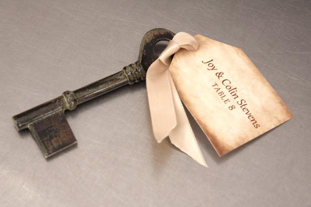 Vintage key Tag
