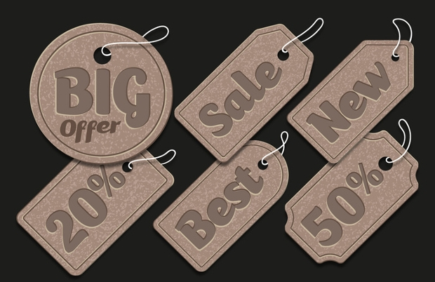 Cardboard Sale Tag Design