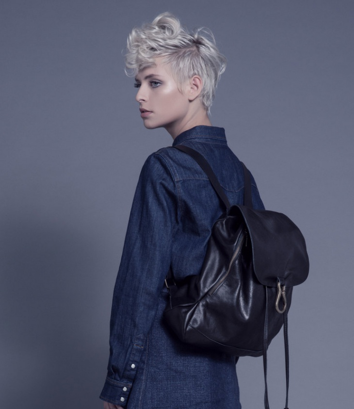 Black Hipster Backpack