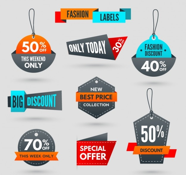 Discount Shopping Tag Design