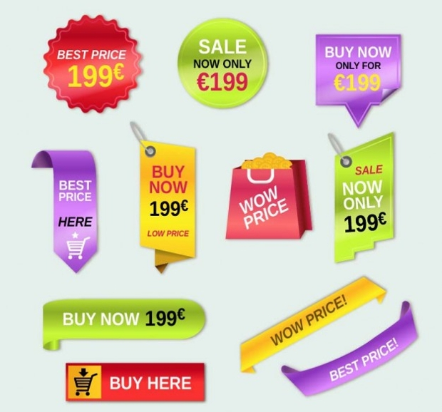 Colorful Price Tag Design