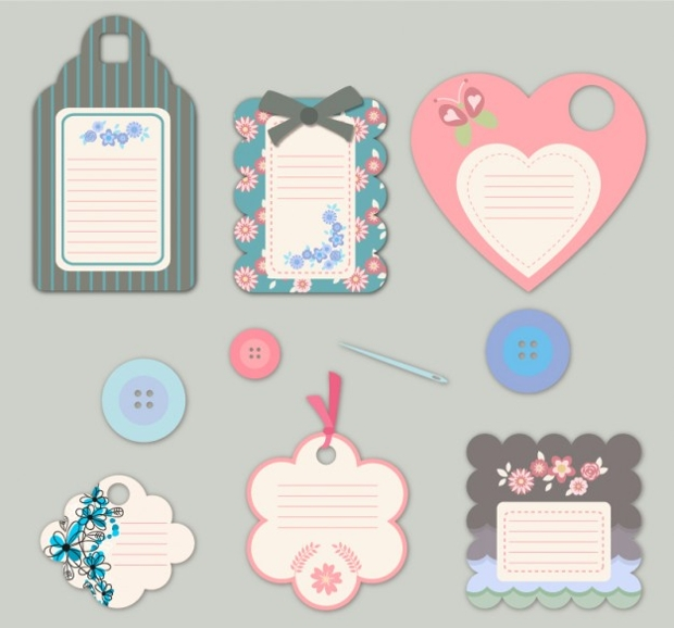 Flower Fashion Tag Design