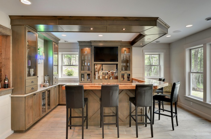 cool victorian home bar design