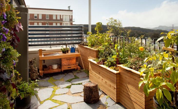 contemporary balcony garden design