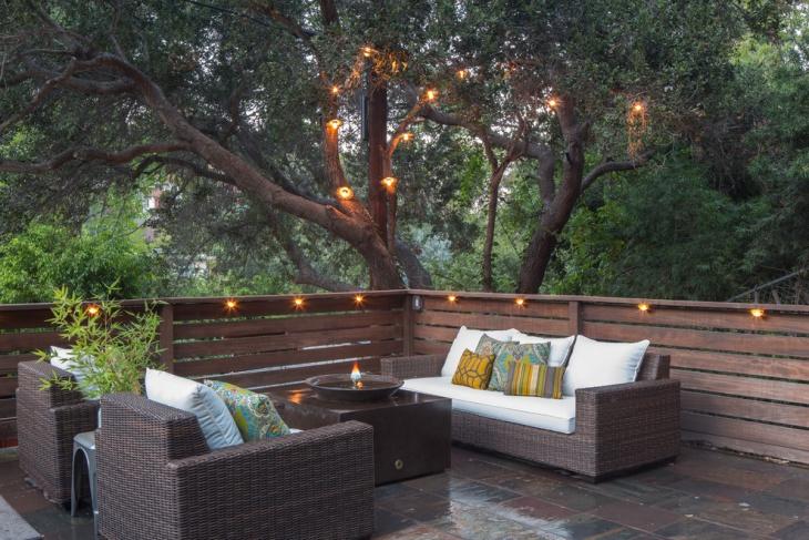 outdoor balcony lighting idea