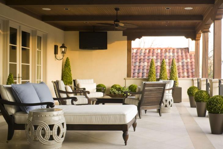 covered balcony garden design