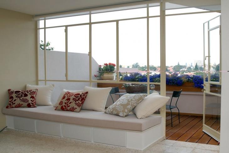 glass window balcony design