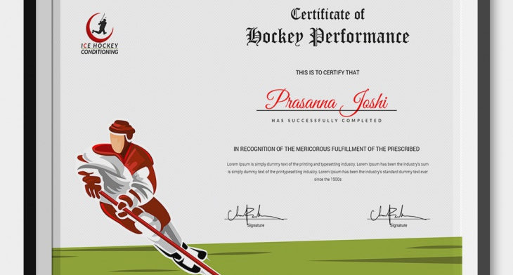 5 Hockey Certificates Psd Word Designs Design Trends Premium