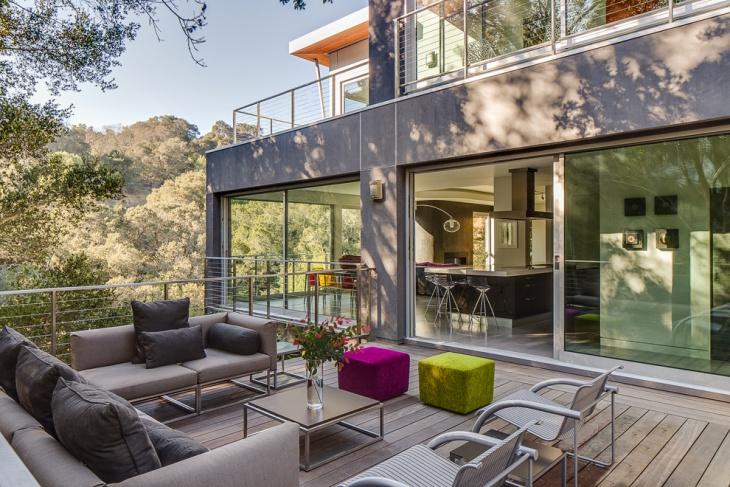 modern balcony furniture idea