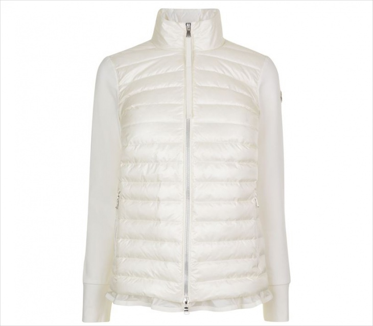 Women's White Quilted Jacket