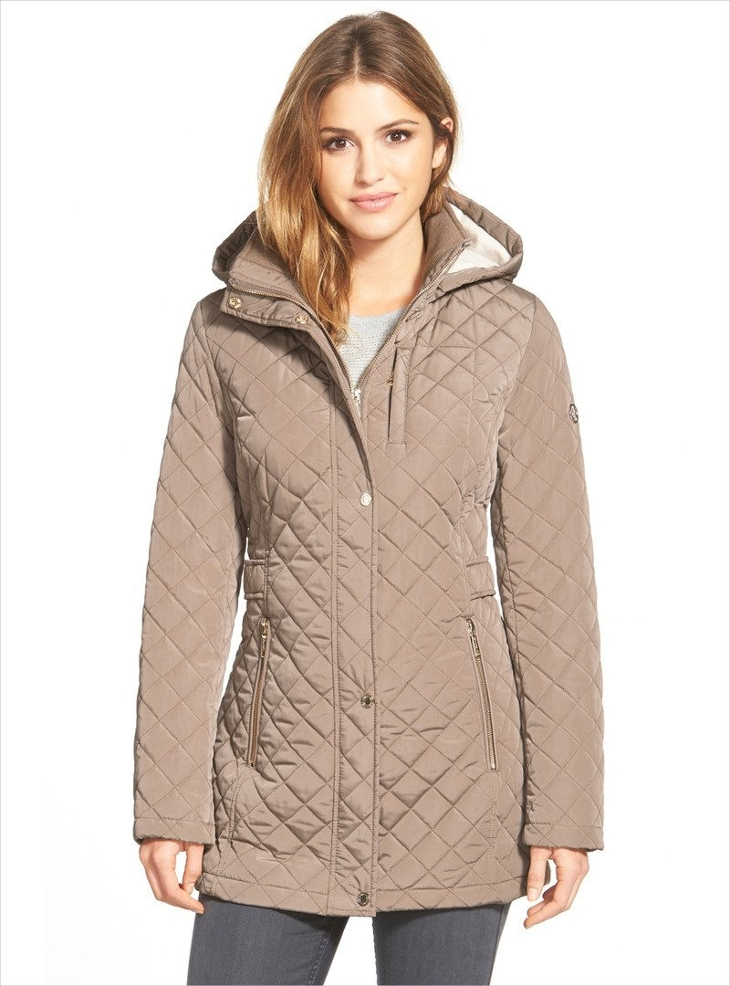 Women's Hooded Quilted Jacket Design