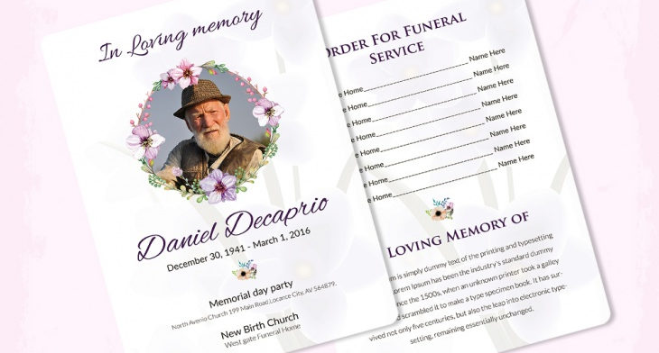 5 Memorial Program Templates Free Word Pdf Psd Documents