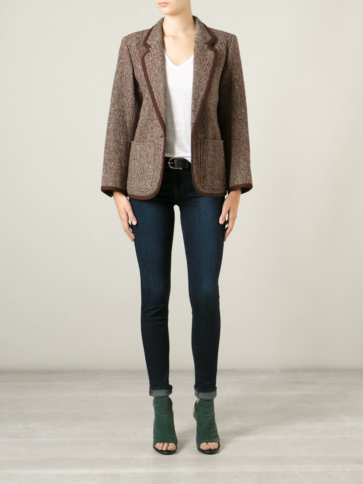 Women's Brown Tweed Jacket