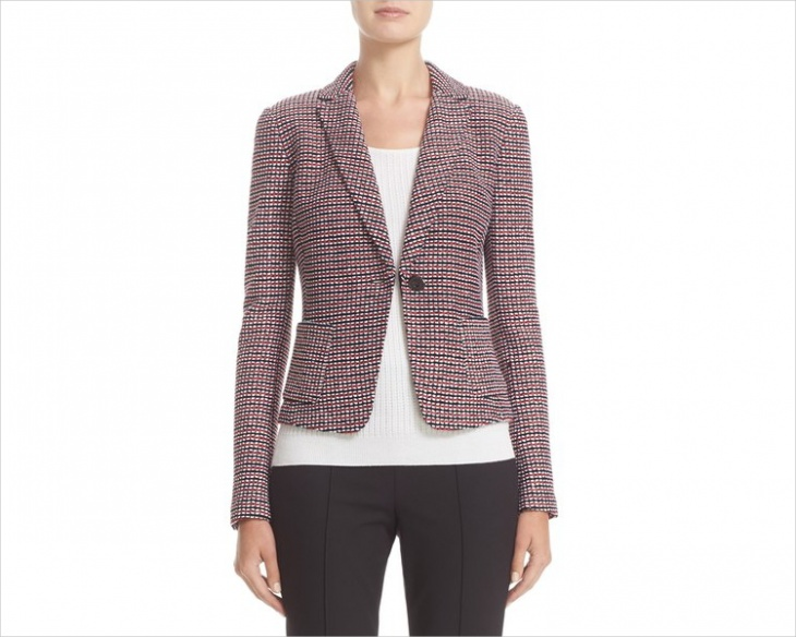 Women's Fitted Tweed Jacket Design
