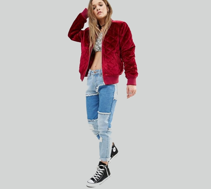 Red Velvet Jacket for Women