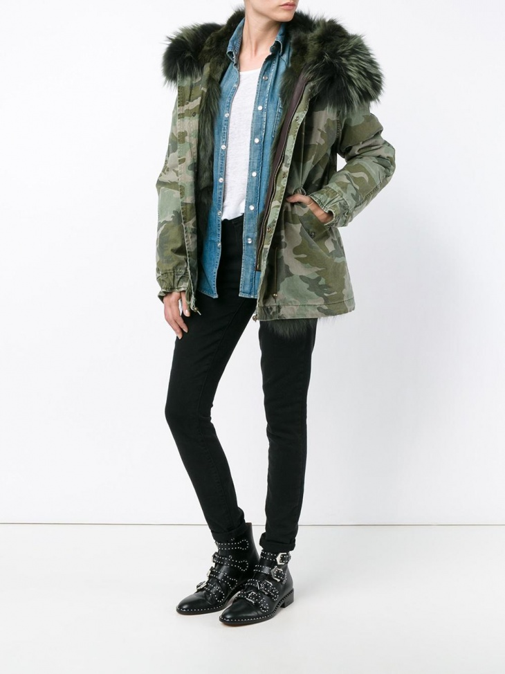Women's Drawstring Military Jacket