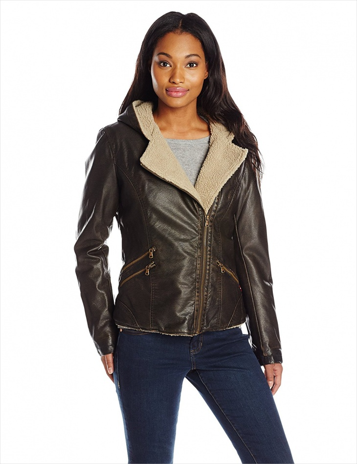 Women's Leather Fur Jacket Design