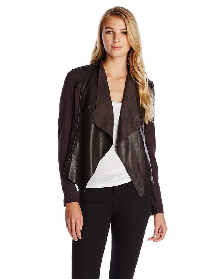 Women's Leather Wrap Jacket