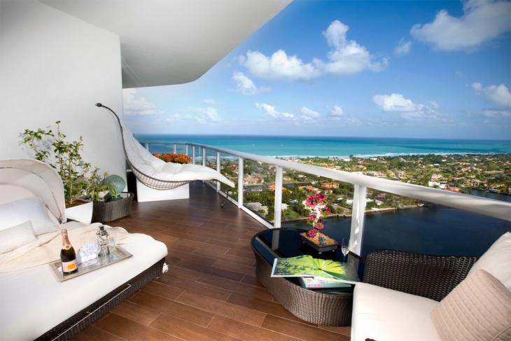condo balcony flooring idea