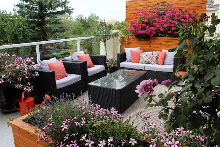 condo balcony furniture design