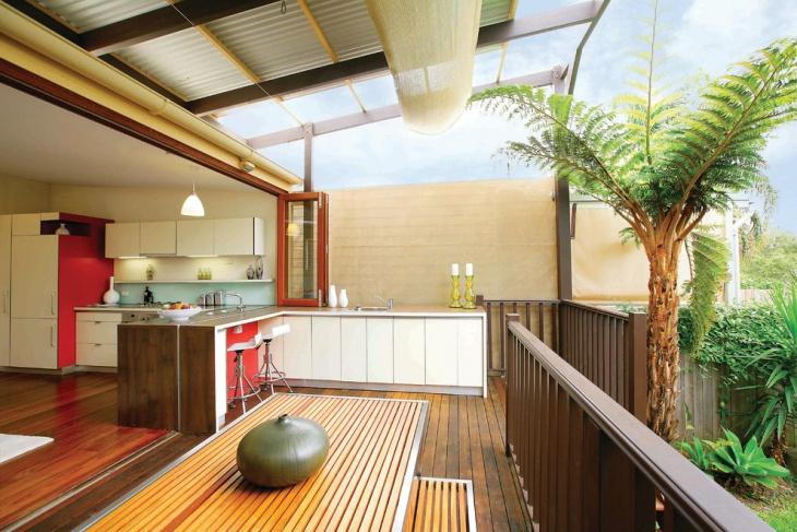 outdoor kitchen balcony design