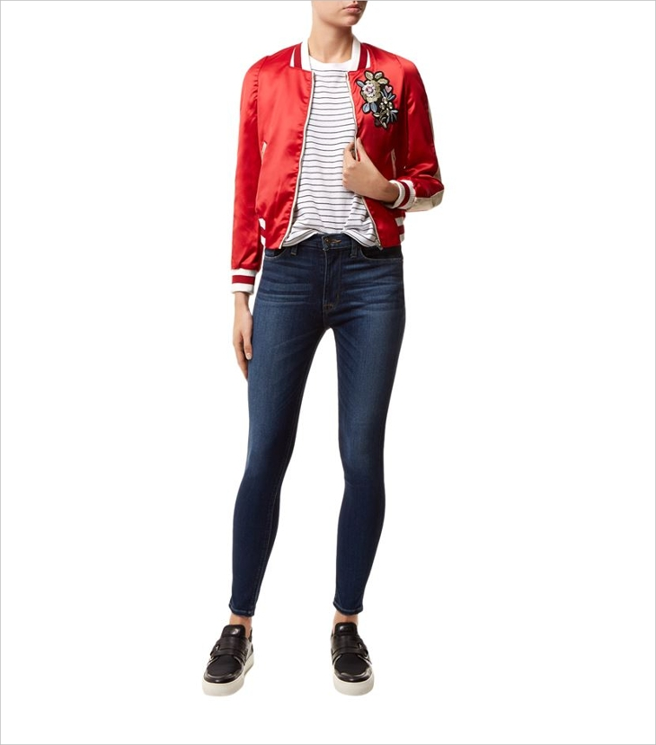 Colorful Bomber Jacket for Women