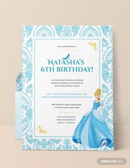cinderella invitation design
