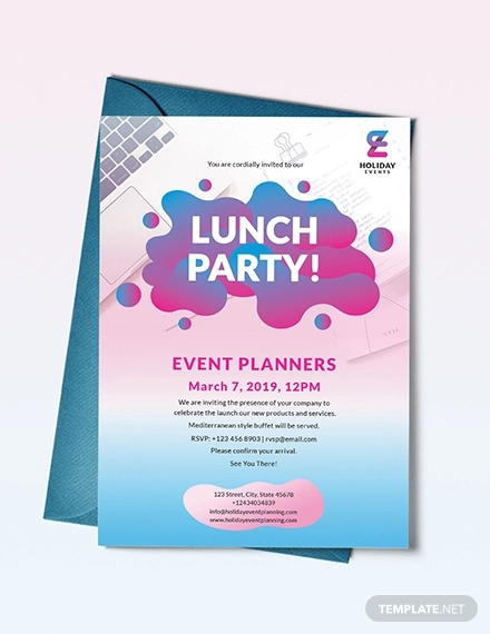 event planner invitation design