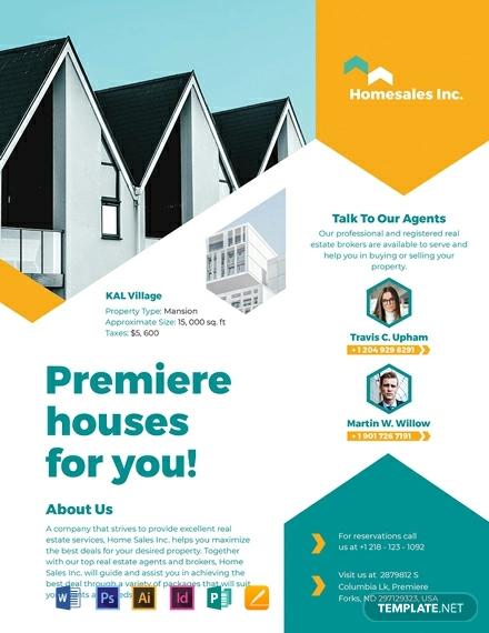 32  real estate flyer designs