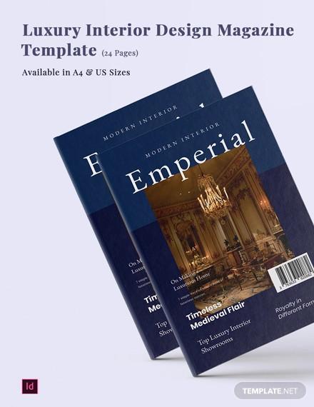 luxury interior design magazine template