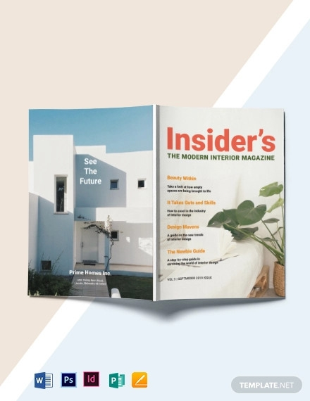 modern interior magazine template