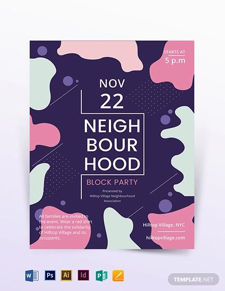 neighbourhood block party