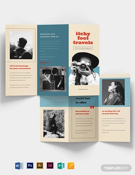 vintage travel brochure template