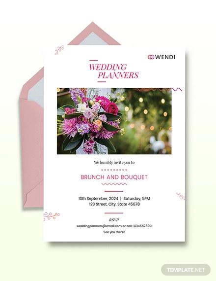 wedding planner invitation design