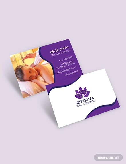 free spa business card