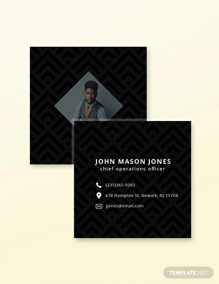 free square business card