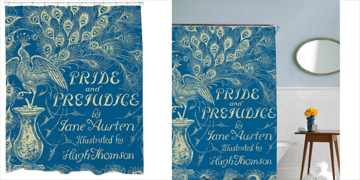 sharp shirter pride and prejudice shower curtain