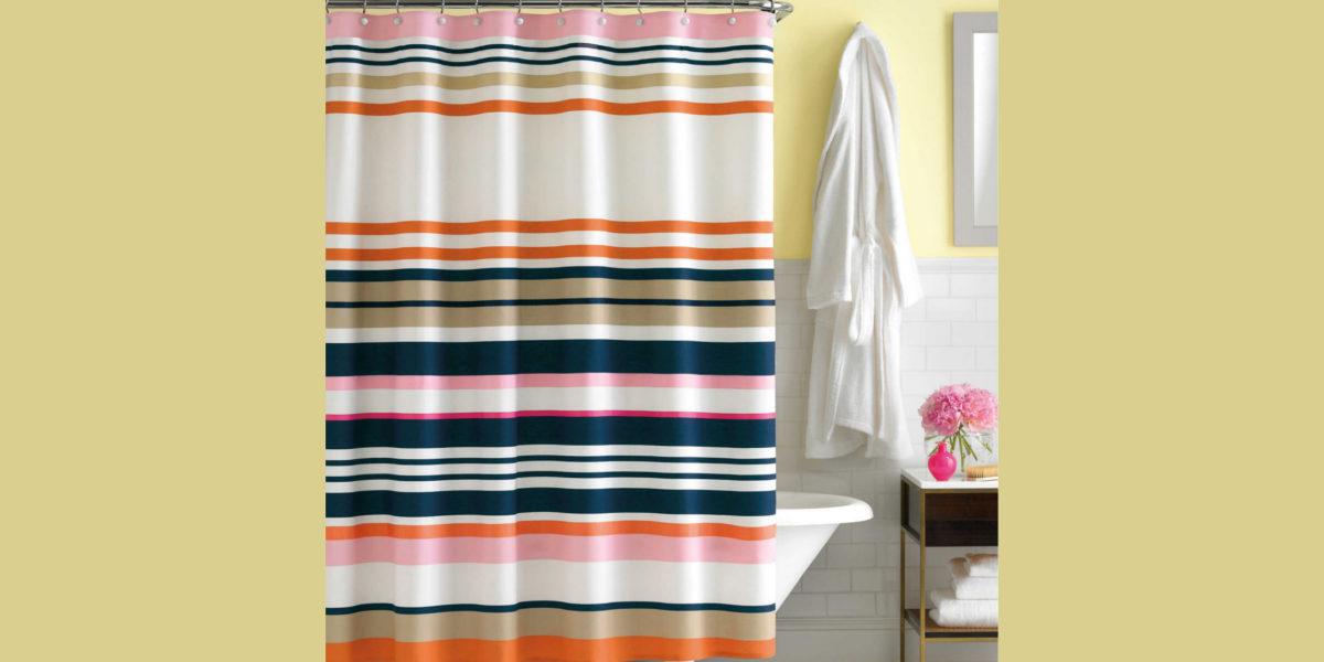 kate spade stripe shower curtain