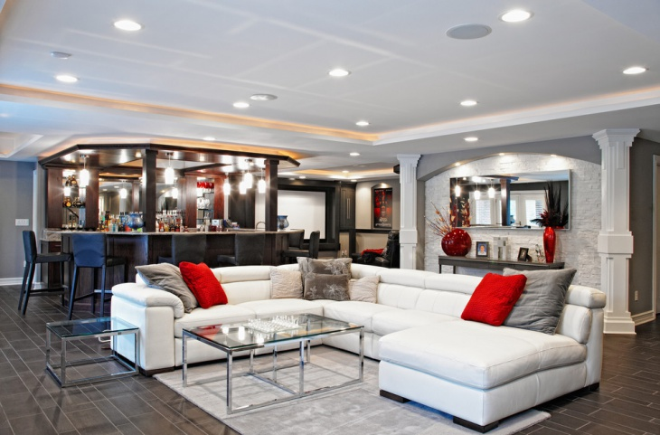 Basement Lounge Furniture Design