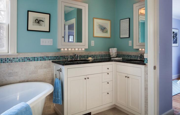 Small Bathroom Cabinet Design
