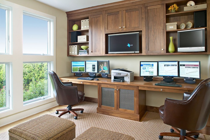 Built In Home Office Cabinet Design