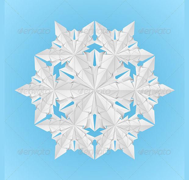 White Paper Snowflake Design