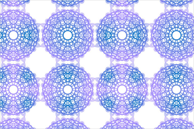 abstract snowflake patterns