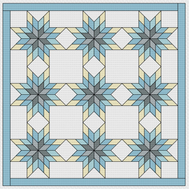 photoshop snowflake quilt pattern